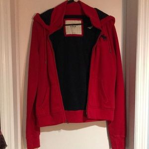 Brand New Abercrombie & Fitch Women's Red Hoodie
